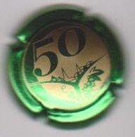 Capsule Champagne CLERGEOT Daniel ( 43b ; 50 ANS Vert Métallisé Et Or ) {S43-19} - Champagne