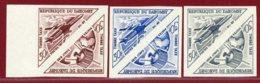 Dahomey 1967 #J42-43, Color Proof X3, Jet Plane, Satellite - Dahomey (1899-1944)