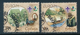 SERBIEN  Mi.Nr. 194-195 A , 196-197D HBl 1 -Pfadfinder - 2007- Used - Europa-CEPT