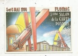 Cp, Bourses & Salons De Collections, 33 ,FLOIRAC ,3e Salon De La Carte Postale,1990 ,  Illustrateur B. Veyri,  Vierge - Sammlerbörsen & Sammlerausstellungen