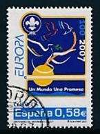 SPANIEN Mi.Nr. 4215  Pfadfinder - 2007-  Used - Europa-CEPT