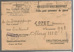 23701 - Pour L'OFLAG  III C - Marcophilie (Lettres)