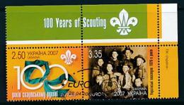 UKRAINE  Mi.Nr. 856-857  Pfadfinder - 2007- Used - Europa-CEPT