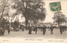 LUNEL  EN HERAULT  LE PLATEAU  CPA  CIRCULEE - Lunel