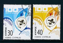 ZYPERN Mi.Nr. 1096-1097 A  Pfadfinder - 2007-  Used - 2007