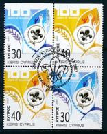 ZYPERN Mi.Nr. 1096-1097 D  Pfadfinder - 2007-  Used - 2007