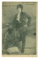 GRECE CRETE COSTUME DE FEMME CRETOISE A LA GUERRE MILITAIRE MILITARIA 1918 - Grecia