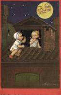 Colombo Enfants Sur Un Toit Faisant Un Pied De Nez à La Lune RV - Cartes Humoristiques