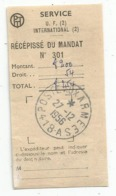 TALON RECEPISSE DU MANDAT POSTE AUX ARMEES 418A 27.12.1956 - Military Postmarks From 1900 (out Of Wars Periods)