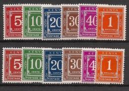 Kenya - 1967-70 - Taxe TT N°Yv. 1 à 12 - 2 Séries Complètes - Neuf Luxe ** / MNH / Postfrisch - Kenia (1963-...)