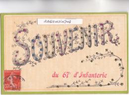 CPA - 02 - SOISSONS - MILITARIA - SOUVENIR Du 67ème D' Infanterie Belle CARTE RARE De 1910 Bel état - Soissons