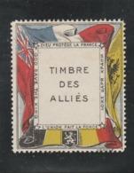 PORTE TIMBRE DE GUERRE DES ALLIES NEUF SANS GOMME - Commemorative Labels