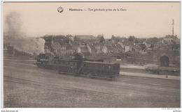 MAMERS VUE GENERALE PRISE DE LA GARE TRAIN LOCOMOTIVE WAGONS TBE - Mamers