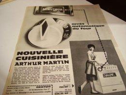 ANCIENNE PUBLICITE CUISINIERE  ARTHUR MARTIN  1960 - Unclassified