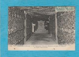 Paris Souterrain. - Les Catacombes, L'Ossuaire, Ossements Provenant Du Cimetière De L'Église Saint-Laurent. - Arrondissement: 14