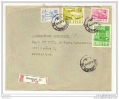 226 - 60 - Lettre Recommandée Envoyée De Bucuresti En Suisse 1971 - Cartas
