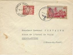 8-12-40 - Enveloppe Affr. 90 C  Oblit. FELDPOST  Taxée à Perros -Guirrec 30 C ( Taxe Minima ) - Marcophilie (Lettres)