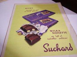 ANCIENNE PUBLICITE CHOCOLAT MILKA  SUCHARD 1960 - Posters