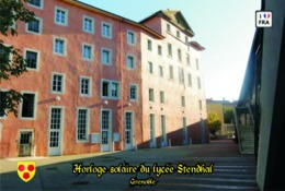 Set 6 Cartes Postales, Bâtiments, France, Grenoble, Horloge Solaire Du Lycée Stendhal - Astronomy