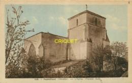 85 Puybelliard, L'Eglise, Façade Sud, Carte Pas Courante - France