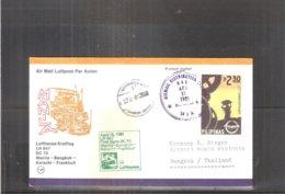 1st Flight Lufthansa DC10 - Manila-Bangkok 1981 (to See) - Philippines