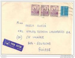 226 - 67 - Lettre Envoyée De Roumanie En Suisse - étiquette Par Avion - 1948-.... Republics