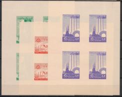 Syrie - 1958 - Block N° V9 à V11 - 3 Luxus Sheetlets - International Fair - Neuf Luxe ** / MNH / Postfrisch - Siria