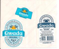 Etiquette  Décollée Gwada Original - Bière Blonde Brassée Au Sucre De Canne De Marie-Galante - 330 Ml - GUADELOUPE - - Bier