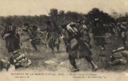 """Militaria Bataille De La Marne Du 6 Au 12 Sept Devant Louppy Le Chateau (Extrait De """"En Plein Feu"""" )  RV - Guerre 1914-18"""