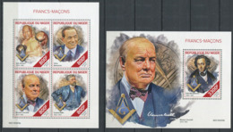 103 NIGER 2019 - Masonic Franc Maconnerie Freemasonry Freimaurerei - Neuf (MNH) Sans Trace De Charniere - Freimaurerei