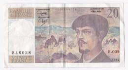 20 Francs Debussy 1982. Alphabet B.009 N° 848028 - 1962-1997 ''Francs''
