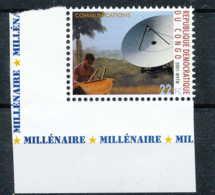NB - [810417]TB//**/Mnh-RD CONGO 2001 - N° 1904, Antenne Satellite Et Tam Tam, Télécommunications.SNC. - Télécom