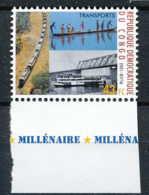 NB - [810419]TB//**/Mnh-RD CONGO 2001 - N° 1906, Transports, Trains, Bateaux.SNC. - Trains