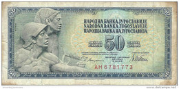 YUGOSLAVIA 50 DINARA 1978 P-89a CIRC  [YU089acirc] - Jugoslawien