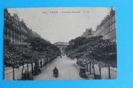 CPA Carte Postale Ancienne PARIS Avenue Carnot - Calèche Diligence Et Voitures  Timbrée 1909 - Landkaarten