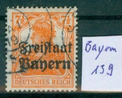 Bayern  MiNr. 139      O / Used  (L1032) - Beieren