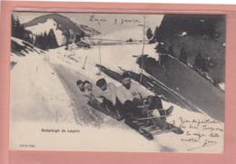 OUDE POSTKAART ZWITSERLAND - SCHWEIZ - SUISSE -    WINTERSPORT -  BOBSLEIGH DE LEYSIN - 1905 - VD Vaud