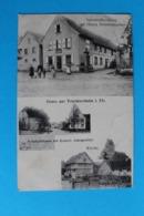 CPA Carte Postale Ancienne GRUSS AUS TRUCHTERSHEIM I.Els - Personnages Devant Un Café-auberge Datée 1908 - Landkaarten