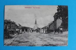 CPA Carte Postale Ancienne EMBERMENIL - Place Village Eglise Et Nombreux Personnages - Landkaarten