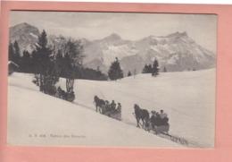 OUDE POSTKAART ZWITSERLAND - SCHWEIZ - SUISSE -   WINTER - RETOUR DES ECOVETS - VD Vaud