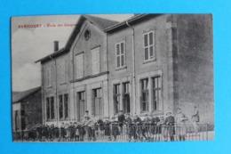 CPA Carte Postale Ancienne AVRICOURT Ecole De Garçons - Enfants Et Institutrice -correspondance à L'arrière à Lire ? - Landkaarten