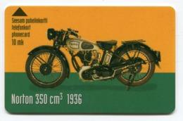 Telecarte °_ Finlande-moto Norton350 Cc-1936-10 Mk- R/V 1591 - Finland