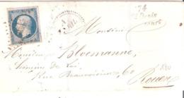 25c.République Non Dentelé Oblitéré P.C.3038 Avec Cursive 74 St Denis D'Héricourt - Marcophilie (Lettres)