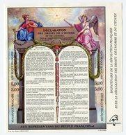RC 11927 FRANCE BF N° 11 RÉVOLUTION ET DECLARATION DES DROITS DE L'HOMME BLOC FEUILLET NEUF ** A LA FACIALE - Ungebraucht