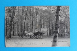 CPA Carte Postale Ancienne ANCERVILLE Promenade Du Bruly - Calèche Datée 1916 - Landkaarten