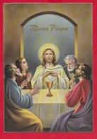 CARTOLINA VG ITALIA - BUONA PASQUA - Eucaristia - P. Ventura - CECAMI 7348 - 10 X 15 - 196? - Ostern