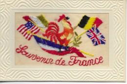 Carte Brodée SOUVENIR DE FRANCE  état Neuf SUP - France