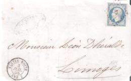 20c.Empire Non Dentelé Oblitéré Losange NP Dateur NANTES BOITE  AMB.2 Sur Devant - Poststempel (Briefe)
