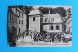 CPA Carte Postale Ancienne BOURBON L'ARCHAMBAULT Ancien Etablissement Personnages Datée 1923 - Landkaarten