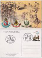 Grand Orient Of Italy, Masonic Lodge, Freemasonry Horse, Maxim Card Italy - Freimaurerei